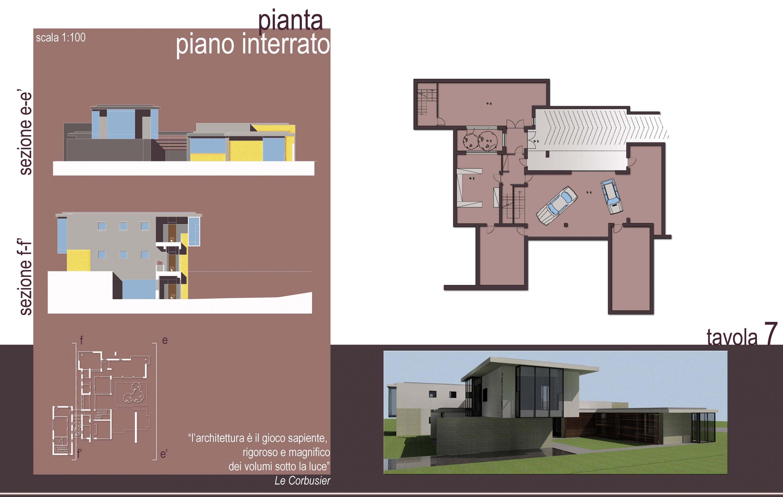 Pianta piano interrato casa studio arch paolo for Piano seminterrato